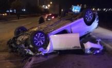 Kahramanmaraş'ta alkollü sürücü takla attı!