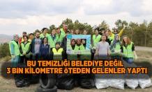 o çöpleri belediye değil onlar topladı