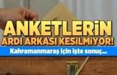 Kahramanmaraş'ta anketlerin ardı arkası kesilmiyor!
