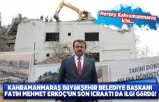 Başkan Erkoç: 'Tarihi Bir Ana Şahitlik Etmekteyiz'dedi.