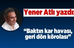 Yener Atlı yazdı: ''Baktın kar havası,...