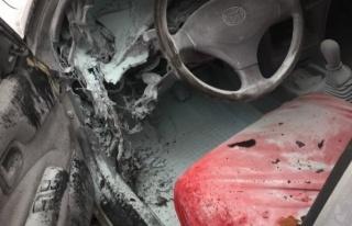 LPG'li araçta çıkan yangın korkuttu