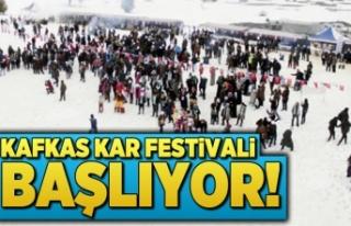 Kafkas kar festivali başlıyor...