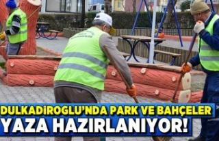 Kahramanmaraş Dulkadiroğlu'nda park ve bahçeler...