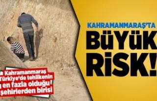 Kahramanmaraş'ta büyük risk! Türkiye'de...