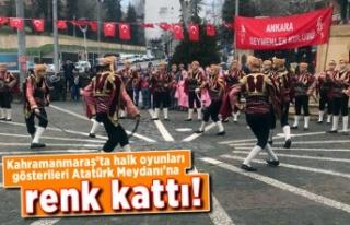 Kahramanmaraş'ta halk oyunları gösterileri...