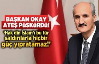 Başkan Okay camii saldırısı hakkında ateş püskürdü!