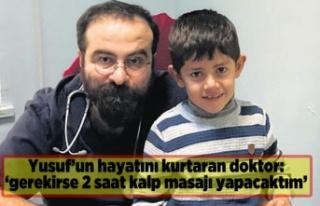 Dr.Ataman, Yusuf'un kahramanı oldu.