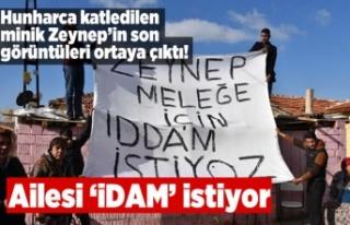 Hunharca katledilen minik Zeynep'in son görüntüleri...