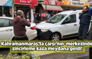kahramanmaraş'ta zincirleme kaza