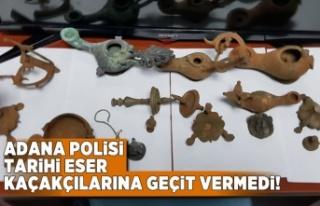 Adana Polisi tarihi eser kaçakçılarına geçit...