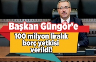 Başkan Güngör'e 100 milyon liralık borç...