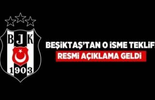 Beşiktaş'tan o isme teklif! Resmi açıklama...