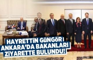 Hayrettin Güngör Ankara'da Bakanları Ziyaret...