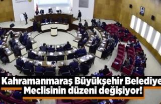 Kahramanmaraş Büyükşehir Belediye Meclisinin düzeni...