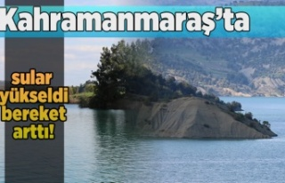 Kahramanmaraş'ta sular yükseldi, bereket arttı!
