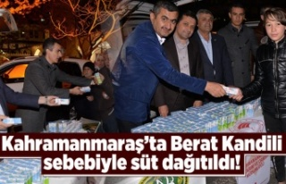 Kahramanmaraş'ta Ulucamii önünde Berat Kandili...