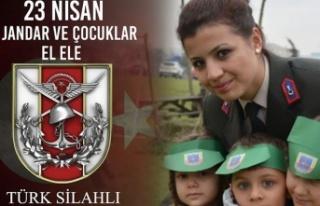Türk jandarmasında 23 Nisan mesajı!