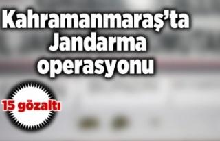 Kahramanmaraş'ta Jandarma operasyonu 15 kişi...