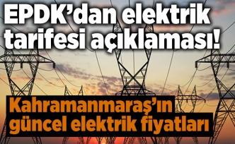 EPDK'dan elektrik tarifesi açıklaması!
