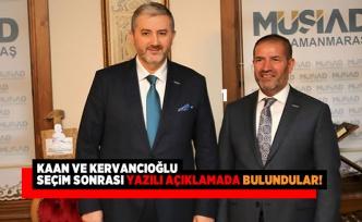 Kaan ve Kervancıoğlu  seçim sonrası yazılı açıklamada bulundular
