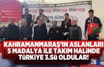 Kahramanmaraş'ın aslanları Türkiye'de takım halinde 5 madalya aldılar!