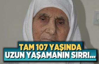 Tam 107 yaşında! Uzun ömrün sırrı ise...