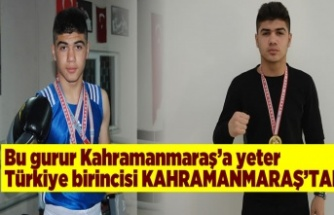 Bu gurur Kahramanmaraş'a yeter  Türkiye birincisi KAHRAMANMARAŞ'TAN