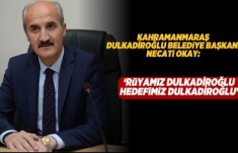 """Kahramanmaraş DULKADİROĞLU Belediye Başkanı Necati Okay: """"Rüyamız Dulkadiroğlu Hedefimiz Dulkadiroğlu """""""