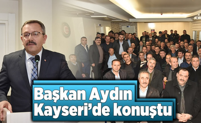 Göksun'lu Başkan Aydın Kayseri'de sevenleriyle buluştu