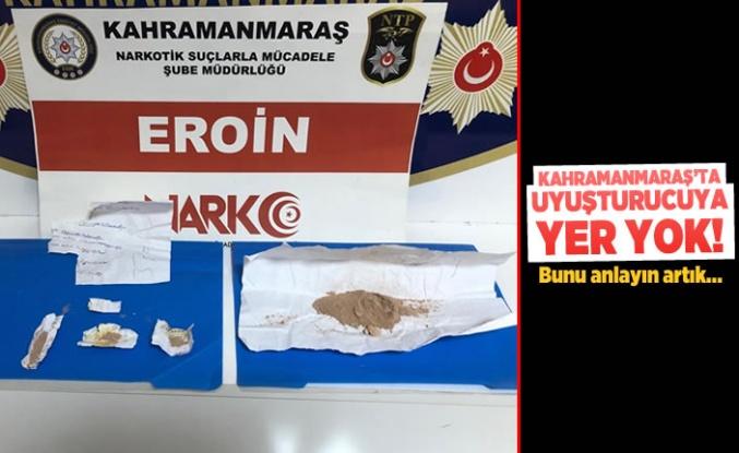 Kahramanmaraş'ta uyuşturucuya yer yok!