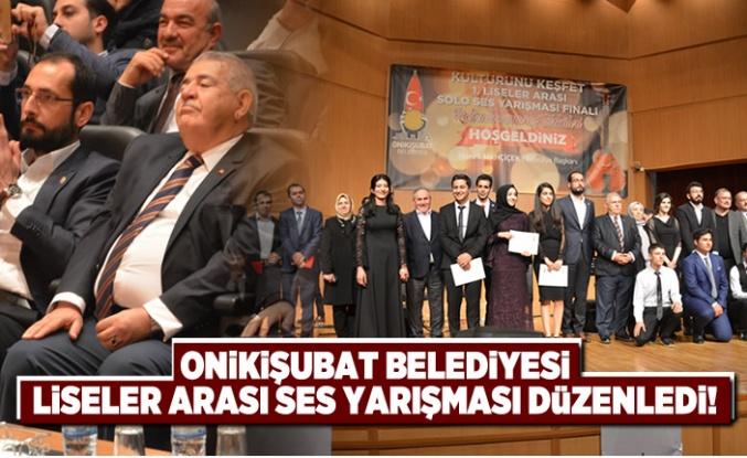 Onikişubat Belediyesi liseler arası ses yarışması düzenledi!